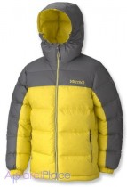 Marmot Куртка на пуху Boy's Guides Down Hoody(Acid Yellow/Cinder)
