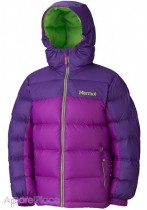 Marmot Куртка на пуху Girl's Guides Down Hoody(Bright Berry/Dark Berry)