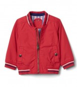 Gap Куртка красная Poplin varsity jacket