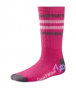 Smartwool Kid's Striped Hike Light Crew Socks Термоноски bright pink
