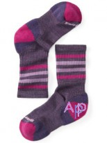 Smartwool Kid's Striped Hike Light Crew Socks Термоноски desert purple