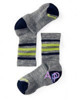 Smartwool Kid's Striped Hike Light Crew Socks Термоноски light gray